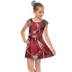 Haloweencard3 Kids Cap Sleeve Dress