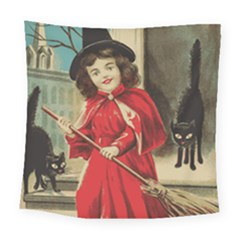 Haloweencard3 Square Tapestry (large) by vintage2030
