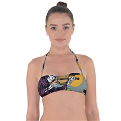 Playing Skeleton Halter Bandeau Bikini Top