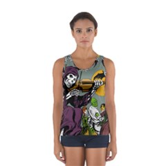 Playing Skeleton Sport Tank Top