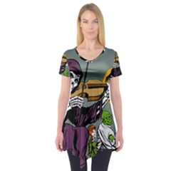 Playing Skeleton Short Sleeve Tunic