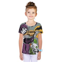 Playing Skeleton Kids  One Piece Tee