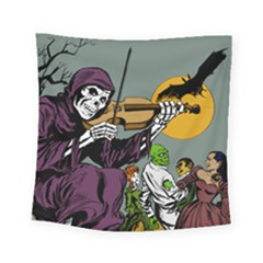 Playing Skeleton Square Tapestry (small)