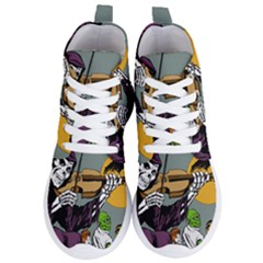 Playing Skeleton Women s Lightweight High Top Sneakers