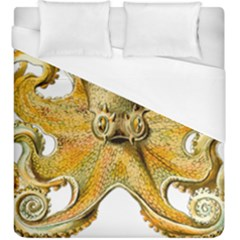 Gold Octopus Duvet Cover (king Size)