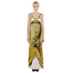 Gold Octopus Maxi Thigh Split Dress