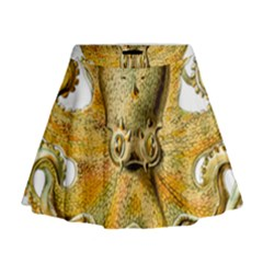 Gold Octopus Mini Flare Skirt