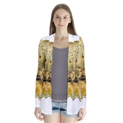 Gold Octopus Drape Collar Cardigan