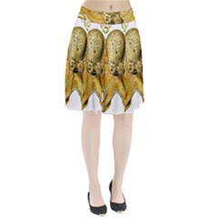 Gold Octopus Pleated Skirt