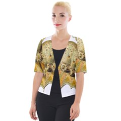 Gold Octopus Cropped Button Cardigan by vintage2030