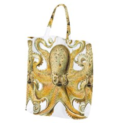 Gold Octopus Giant Grocery Tote