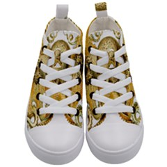 Gold Octopus Kid s Mid Top Canvas Sneakers