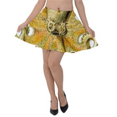Gold Octopus Velvet Skater Skirt