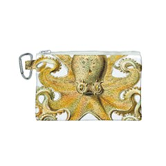 Gold Octopus Canvas Cosmetic Bag (small)