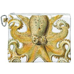 Gold Octopus Canvas Cosmetic Bag (xxl) by vintage2030