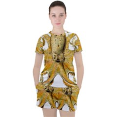 Gold Octopus Women s Tee And Shorts Set