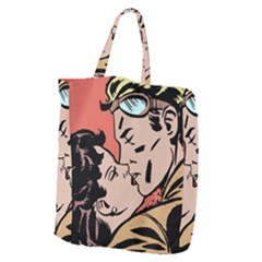 Retrocouplekissing Giant Grocery Tote by vintage2030