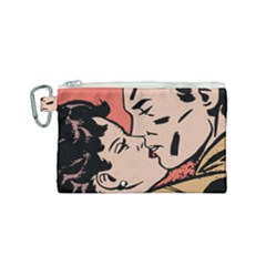 Retrocouplekissing Canvas Cosmetic Bag (small) by vintage2030