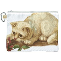 Cat 1827211 1920 Canvas Cosmetic Bag (xxl) by vintage2030
