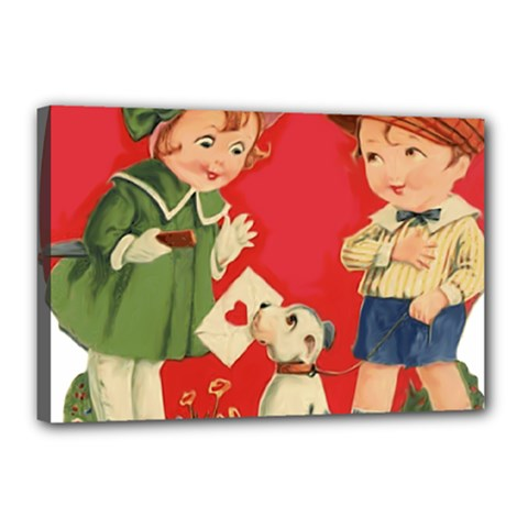 Children 1731738 1920 Canvas 18  X 12  (stretched)