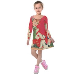 Children 1731738 1920 Kids  Long Sleeve Velvet Dress