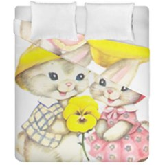 Rabbits 1731749 1920 Duvet Cover Double Side (california King Size) by vintage2030