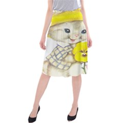 Rabbits 1731749 1920 Midi Beach Skirt
