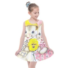 Rabbits 1731749 1920 Kids  Summer Dress