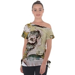 Lady 1650603 1920 Tie Up Tee