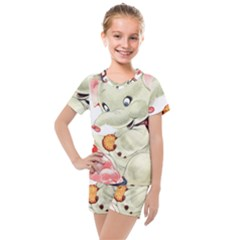 Elephant 1650653 1920 Kids  Mesh Tee And Shorts Set
