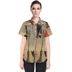 Witch 1461961 1920 Women s Short Sleeve Shirt by vintage2030