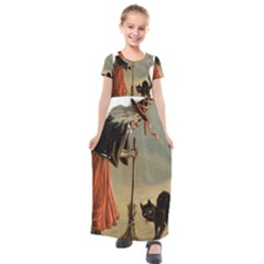 Witch 1461961 1920 Kids  Short Sleeve Maxi Dress by vintage2030