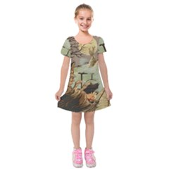 Witch 1461958 1920 Kids  Short Sleeve Velvet Dress