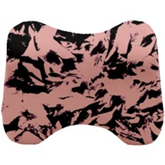 Old Rose Black Abstract Military Camouflage Head Support Cushion