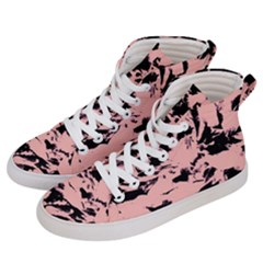 Old Rose Black Abstract Military Camouflage Men s Hi Top Skate Sneakers by Costasonlineshop