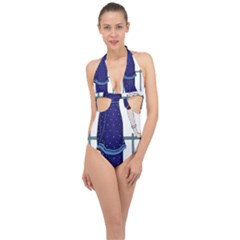 Lady 1318887 1920 Halter Front Plunge Swimsuit