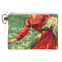 Lady 1334282 1920 Canvas Cosmetic Bag (xl) by vintage2030