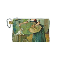 Postcard 1348470 1920 Canvas Cosmetic Bag (small) by vintage2030