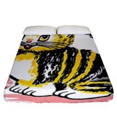 Cat 1348502 1920 Fitted Sheet (queen Size) by vintage2030