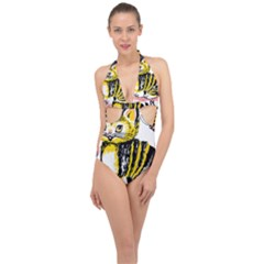Cat 1348502 1920 Halter Front Plunge Swimsuit