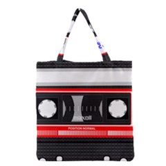 Compact Cassette Grocery Tote Bag by vintage2030