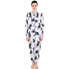 Pointing Finger Pattern Onepiece Jumpsuit (ladies)
