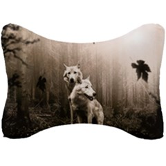 Wolfs Seat Head Rest Cushion by Valentinaart