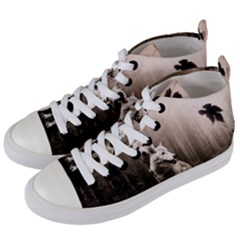 Wolfs Women s Mid Top Canvas Sneakers by Valentinaart