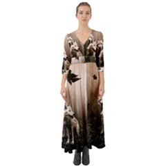 Wolfs Button Up Boho Maxi Dress