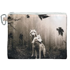 Wolfs Canvas Cosmetic Bag (xxl) by Valentinaart