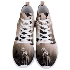 Wolfs Men s Lightweight High Top Sneakers by Valentinaart