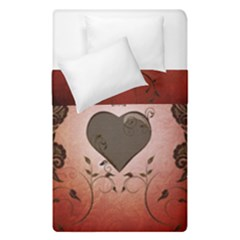 Wonderful Heart With Decorative Elements Duvet Cover Double Side (single Size) by FantasyWorld7