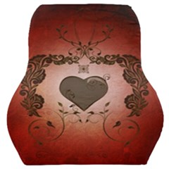 Wonderful Heart With Decorative Elements Car Seat Back Cushion  by FantasyWorld7