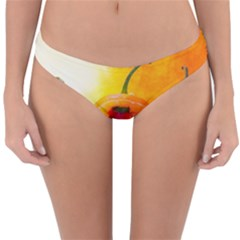 Three Red Chili Peppers Reversible Hipster Bikini Bottoms